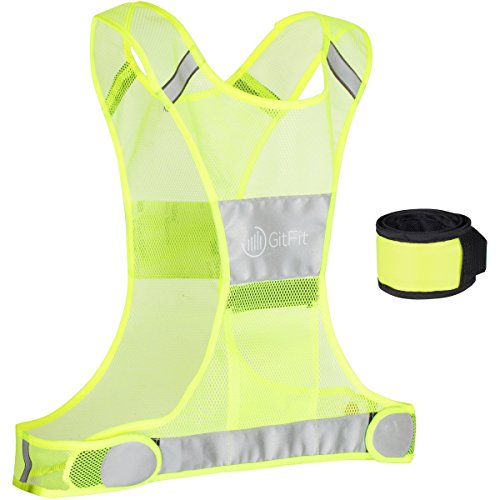 Reflective-Vest-for-Running-or-Cycling-including-LED-Safety-Slap-Armband-Men-and-Womens-Reflective-Running-Vest-for-Jogging-Biking-Walking-Reflective-Running-Gear-by-GitFit-Sports-0