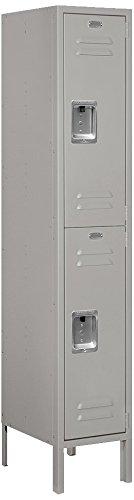 Salsbury-Industries-62155GY-U-Double-Tier-1-Inch-Wide-5-Feet-High-15-Inch-Deep-Unassembled-Standard-Metal-Locker-Gray-0