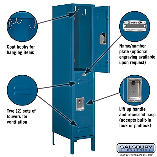 Salsbury-Industries-62158BL-U-Double-Tier-1-Inch-Wide-5-Feet-High-18-Inch-Deep-Unassembled-Standard-Metal-Locker-Blue-0-0