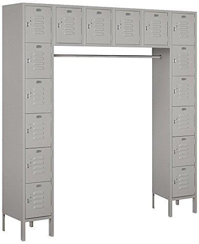Salsbury-Industries-66016GY-U-Six-Tier-Box-Style-Bridge-16-Box-18-Inch-Deep-Unassembled-Standard-Metal-Locker-Gray-0