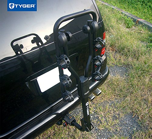 TYGER-Deluxe-Black-3-Bike-Hitch-Mount-Bicycle-Carrier-Rack-with-Hitch-Lock-Fits-125-or-2-Inch-Receiver-0-1