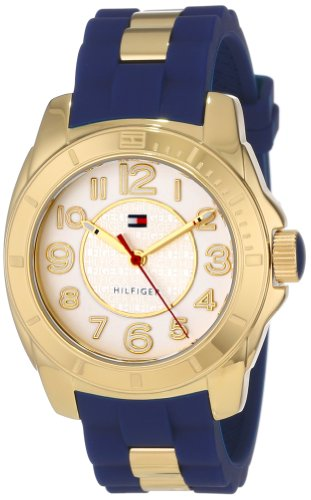Tommy-Hilfiger-Womens-1781307-Casual-Sport-Gold-Plated-Case-and-Links-with-Silicone-Strap-Watch-0