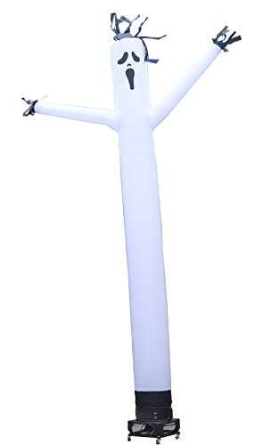 Torero-Inflatables-Air-Dancer-Ghost-Tube-Man-Inflatable-Sky-Puppet-Complete-Set-with-1-HP-Sky-Dancer-Blower-20-Feet-White-0