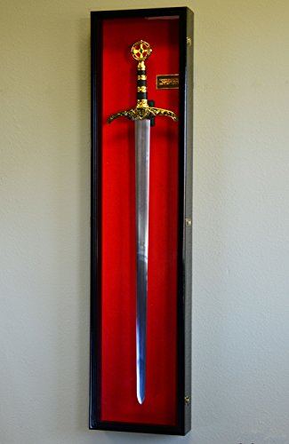 Vertical-Long-Sword-Display-Case-Cabinet-Wall-Rack-Claymore-Long-Swords-Medieval-54-0