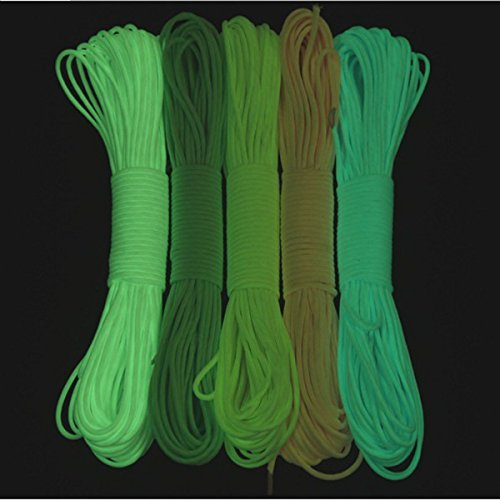 Yougle-Free-Shipping-9-Strand-550-Luminous-Glow-in-the-Dark-Paracord-Parachute-Cord-5-Color-50FT-100FT-1000FT-0-0