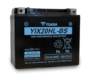 Yuasa's new YIX20HL AGM battery is designed for cold weather use.