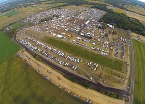 Photographer Chad E. Colby used a drone aircraft to take photos of the snowmobile festival known as Haydays in Minnesota on Friday and Sunday of the event. Hayes turned to the event to display its latest technology to consumers. (Photo by Chad E. Colby)