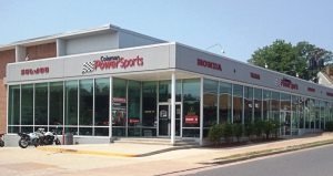 Coleman PowerSports opened its location in Falls Church, Va., in 1986. It features 42,000 square feet of space on two levels. The Woodbridge store, at 38,000 square feet, opened in 1996. The dealership is celebrating its 50th year in business in 2013.