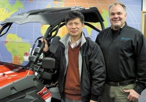 Mr. Zhu, general manager of CFMOTO China/U.S., and Dave Auringer, vice president of sales and marketing, are aiming to expand the brand's network to 200 dealerships by the end of 2014.