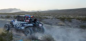 In the Mint 400 Pro Class, Jagged X's Brandon Scheuler and Blake Van De Loo in the No. 1919 RZR 4 900, took the title. Credit: Ernesto Araiza/UTVUnderground.com