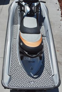 Easy installation is just one of the attractions of BlackTip Jetsports Elite traction mat products.