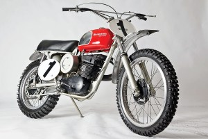 Malcolm Smith donated his 1970 Husqvarna 400 Cross to the AMA Motorcycle Hall of Fame.