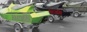 The AlumaSki can be customized in more than 5,000 powder coat colors and with a number of accessories.