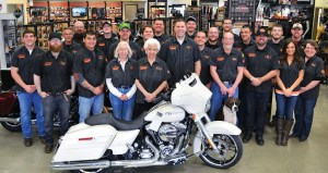 "Wilkins Harley-Davidson opened in 1947 and moved to its current location in 1996. Co-owner John Lyon says he owes a lot to his team. ""None of this is possible without our staff,"" he said."