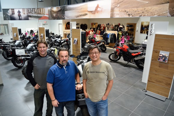 (From left) Dealer principal Mike Bell, general manager Bronko Tatic and business partner Dennis Lin.