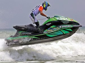 Stuart Rasmussen, a rider for Broward Motorsports, competes in the P1 AquaX series.