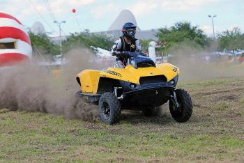 Gibbs Sports Amphibians demonstrated its  Quadski high-speed amphibian ATV/PWC at the 2014 AIMExpo.