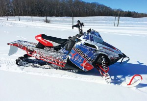 ArcticFX Graphics has teamed up with Polaris for sled wrap designs.
