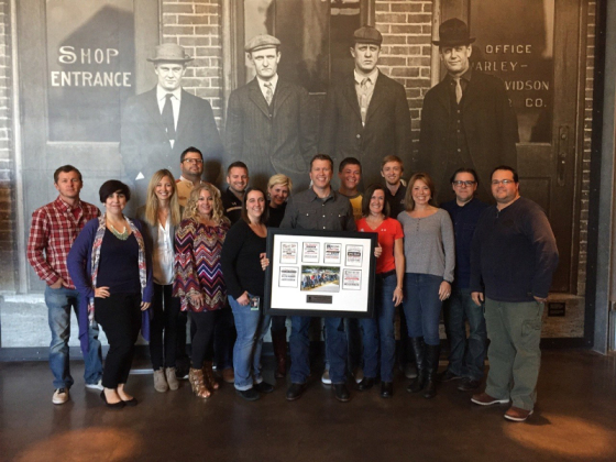 Harley-Davidson and Wounded Warrior Project team members at the Harley-Davidson Museum in Milwaukee, Wisconsin. (PRNewsFoto/Wounded Warrior Project)