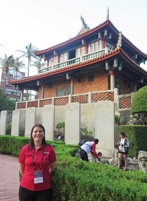 Liz had the opportunity to visit a few tourist attractions during her visit to Tainan City, including Chikan Lou, also known as Fort Provintia.