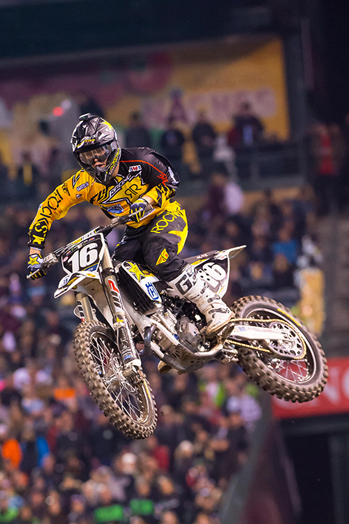 Osborne added to the historic night for Rockstar Energy Husqvarna Factory Racing by earning a podium finish in 250SX.