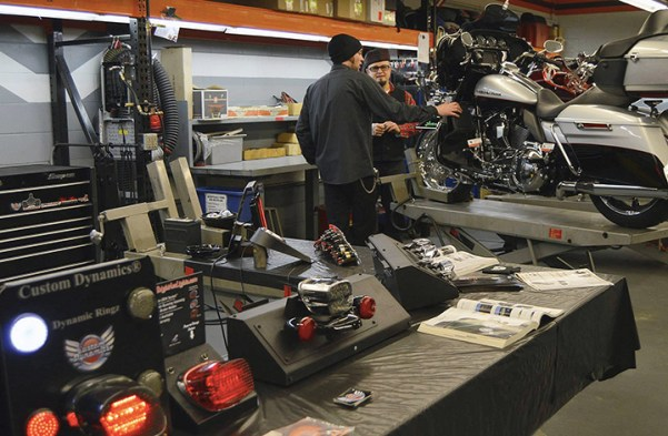 Customers who attended the Backstage Pass to Service at St. Paul Harley-Davidson got acquainted with the service department staff while learning about department offerings.