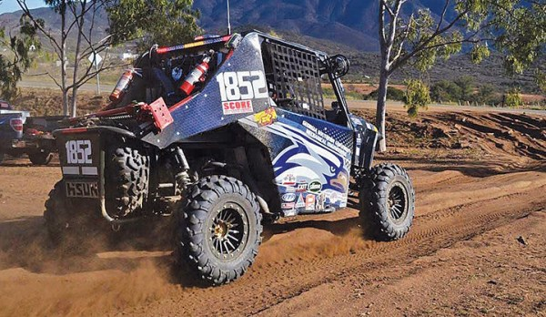 Hisun's Strike 1000 hits the trail in Baja California.