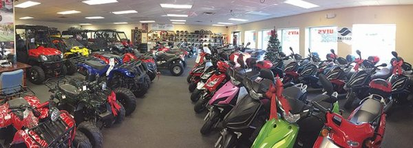 AP Venture, a multi-line dealership in Plover, Wis., carries KYMCO ATVs, UTVs and scooters, and Tao Tao and XY Powersports parts.