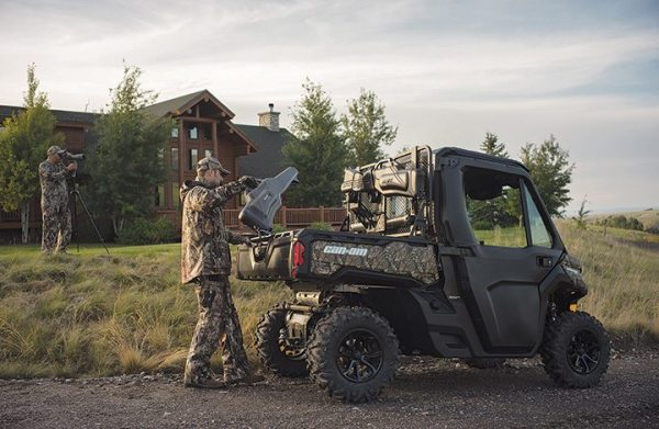The 2016 Can-Am Defender XT Cab Mossy Oak camo edition.