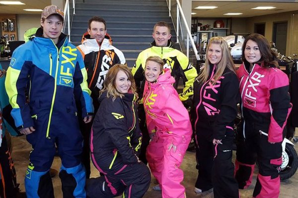 Cycle North Powersports chose customers to model FXR apparel in a fashion show during its annual snowcheck event.