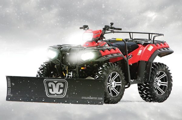 Dealers who want to sell Kolpin products like the Cycle Country straight steel blade on this Polaris Sportsman will be able to order directly through Kolpin.