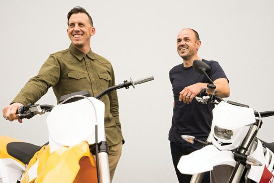 Jon Bekefy (left) and Jeremy Cleland are the newest additions to the Alta Motors executive lineup. Among the first dealers to add the electric motorcycle brand to their lineup are Alta Motors of San Francisco and Dazey's Motorsports in California and Bellevue Kawasaki and Skagit Powersports in Washington state. New dealers are soon to be announced in Los Angeles, San Diego and New York City.