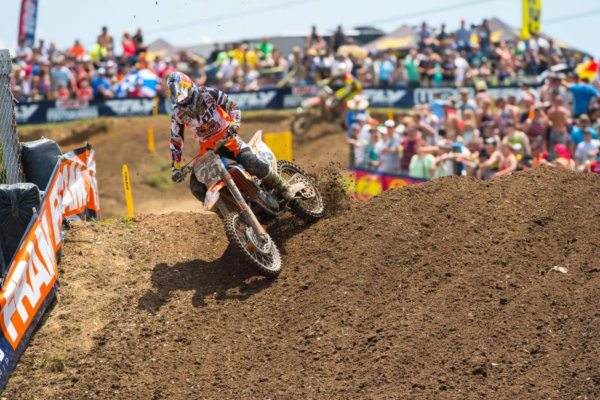 Musquin earned his first podium result in the premier class. Photo credit: Simon Cudby.