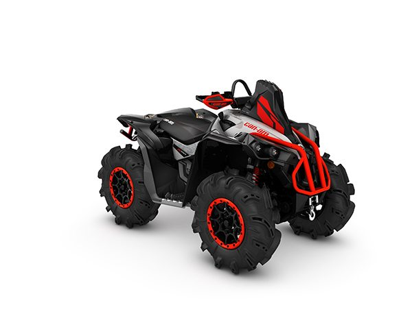 2017 Renegade X mr 1000R Hyper Silver, Black Can-Am Red_3-4 front