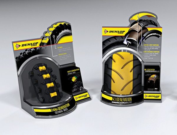 POP displays are among the assets that accompany the Dunlop Pro Dealer program.