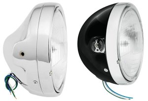 The new 7-inch Side Mount Headlights from BikeMaster are available in a standard and a slim version.