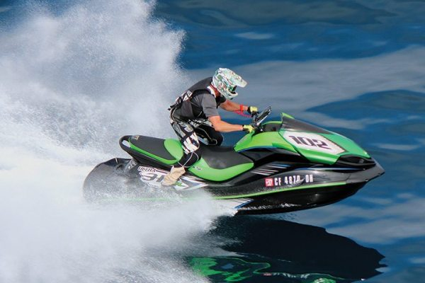 Bill Scott, aboard a production Kawasaki Jet Ski Ultra 310R, won the Manufacturer Stock class in the Long Beach to Catalina and Back endurance race.