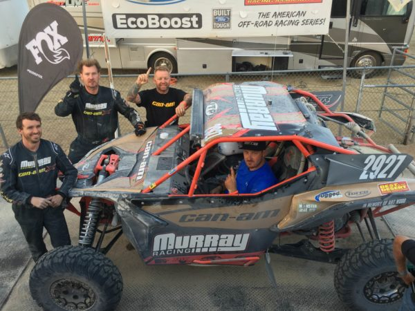 Murray Racing put their No. 2927 Can-Am Maverick X3 X rs Turbo R side-by-side on the BITD podium with a UTV Unlimited Pro class victory.