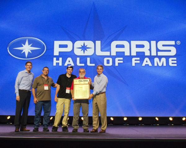 From left to right: Tim Larson - Polaris Industries Inc. SVP, Global Customer Excellence; Aaron Woods - Teixeira's Technician; Russell McRoberts - Teixeira's Service Manager Paul Teixeira - Teixeira's Owner; Scott Wind - Polaris Chairman and CEO