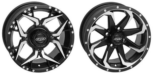 The Shocker (left) and Fury are two of the latest ATV/UTV wheels from QuadBoss.