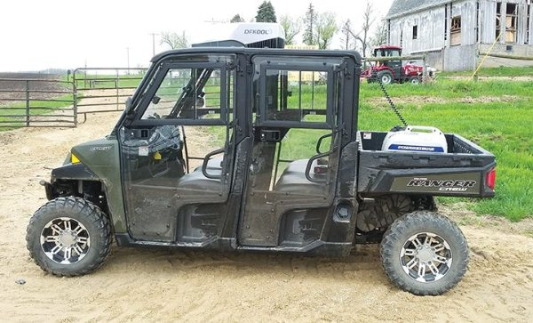 The DFKool air conditioning unit and generator was tested on the Polaris Ranger Crew 900. The UTV was loaned from Mike's Engine's Works in Darlington, Wis.