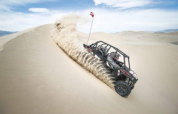 Having some fun on the dunes with the 2016 Polaris RZR XP 4 Turbo EPS.