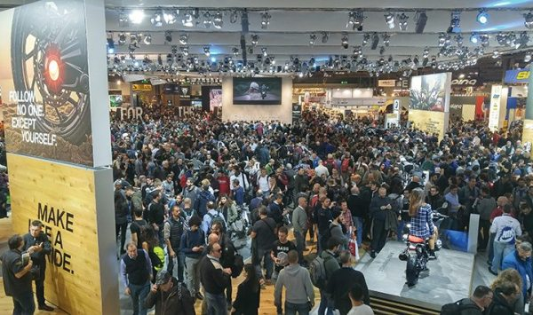 BMW always brings a wow factor with its booth at EICMA. This year was no different.