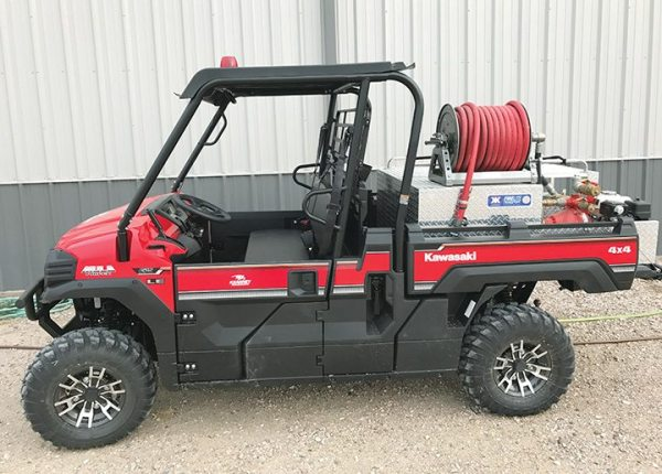 Kearney Powersports customized this fire-fighting Kawasaki Mule.