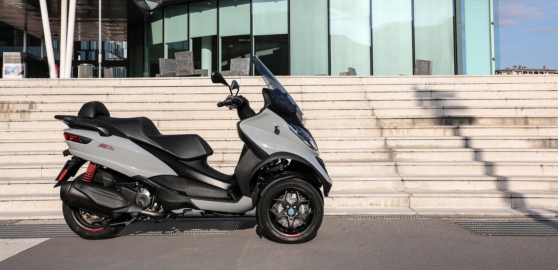 EU: Piaggio reveals 3-wheel scooter lineup   Powersports Business