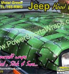 jeep wrangler wrap vinyl jeep cj wrap in riveted metal green do it your [ 1199 x 899 Pixel ]
