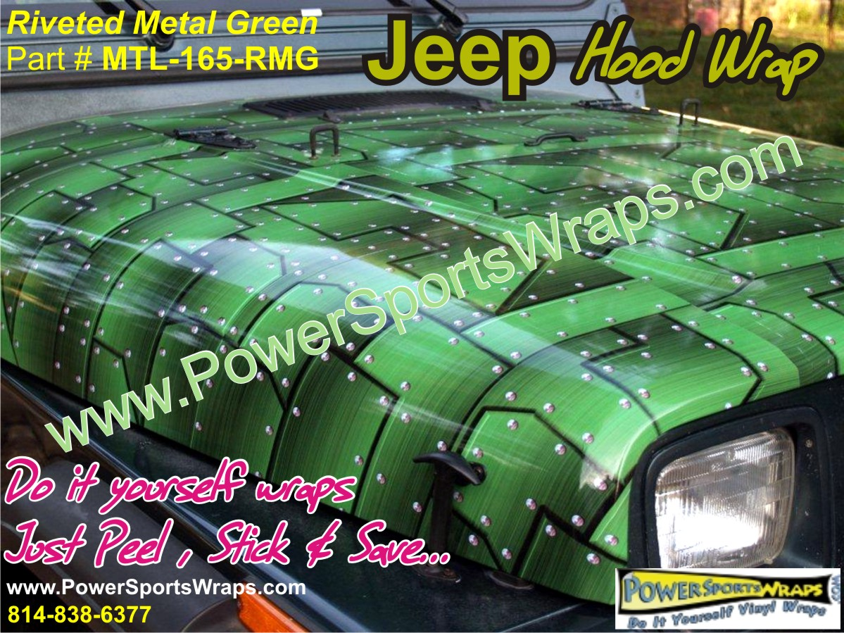 hight resolution of jeep wrangler wrap vinyl jeep cj wrap in riveted metal green do it your