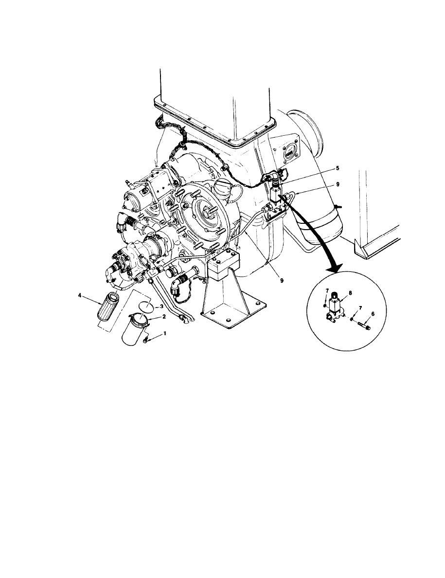 Figure 4-50. Engine FCU Fuel Filter and Shutdown Fuel Solenoid