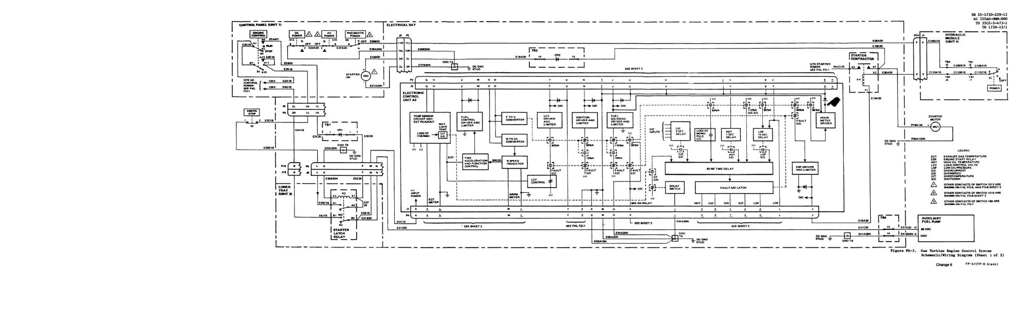 hight resolution of gas turbine engine control system schematic wiring diagram sheet 1 of 2