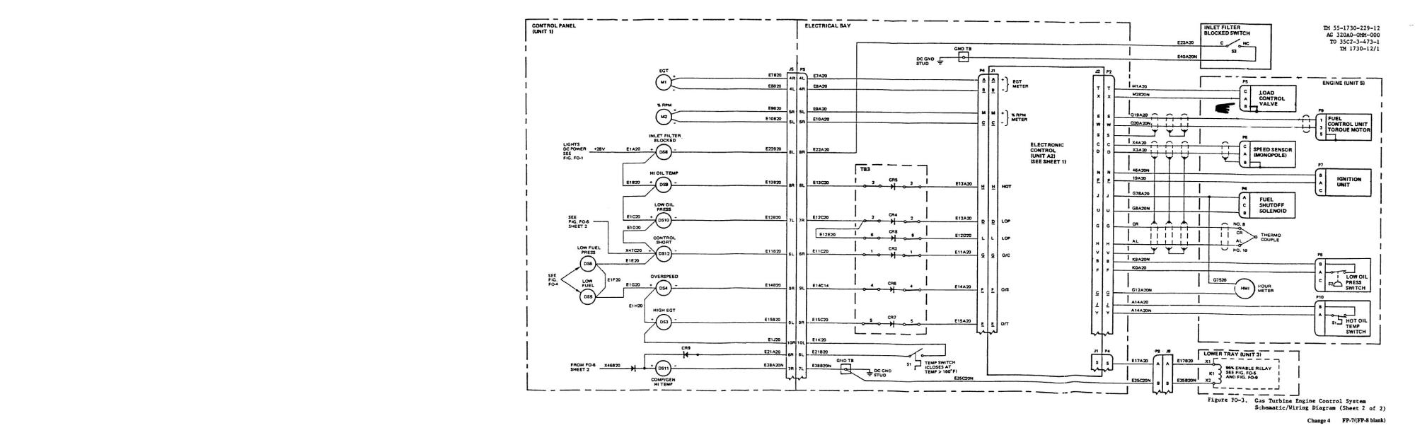 hight resolution of gas turbine engine control system schematic wiring diagram sheet 2 of 2